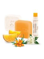 Набор твёрдого шампуня, кондиционера и бальзама для губ Citrus Blossom